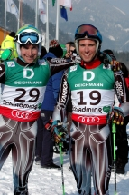 Team mate Willis and myself during qualification