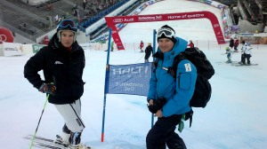 Inspecting with my coach Nils Coberger