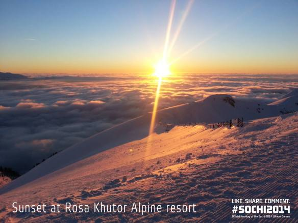 rosa khutor alpine sunset