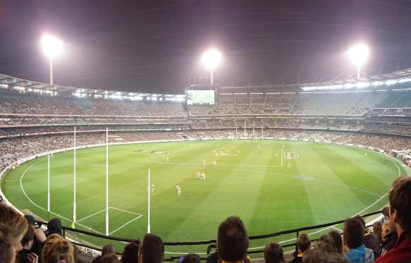 AFL game Melbourne