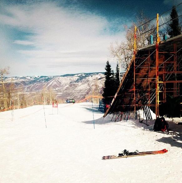 Super g start, Aspen