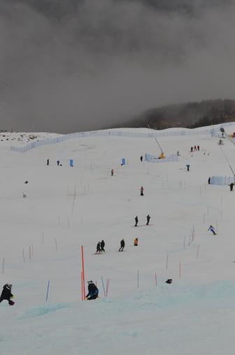 Damp slalom day